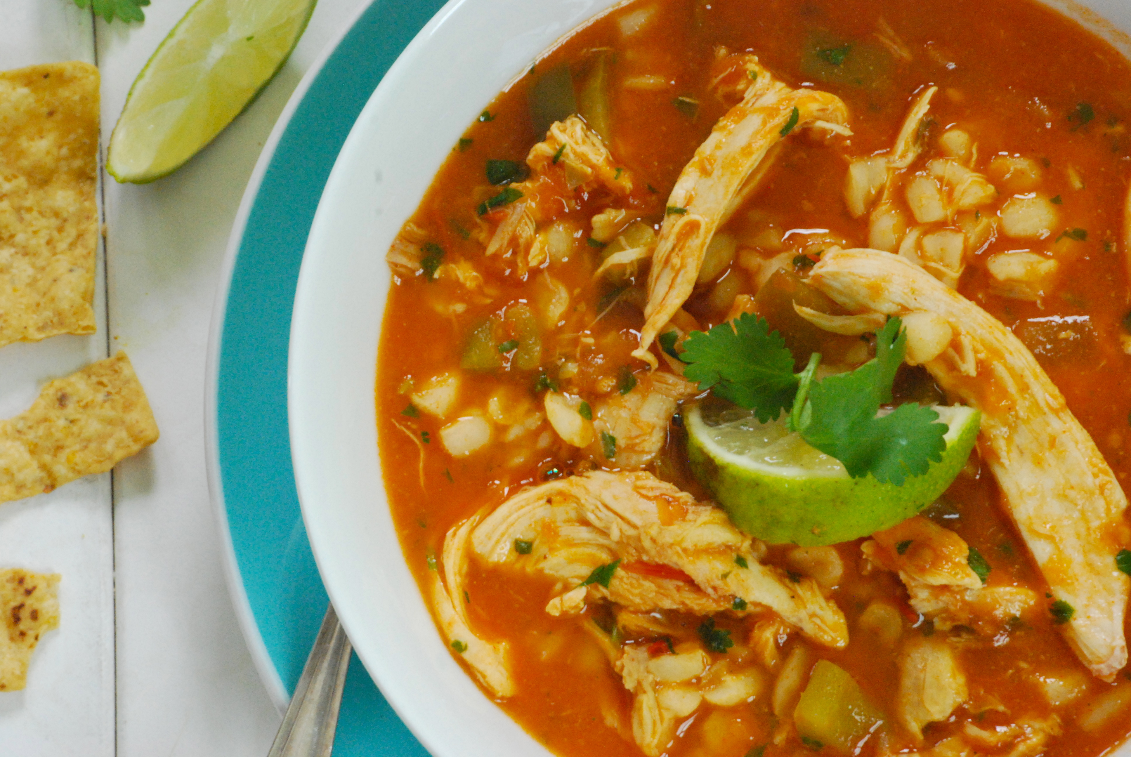 Mexican Chicken and Hominy Soup | Relishing It