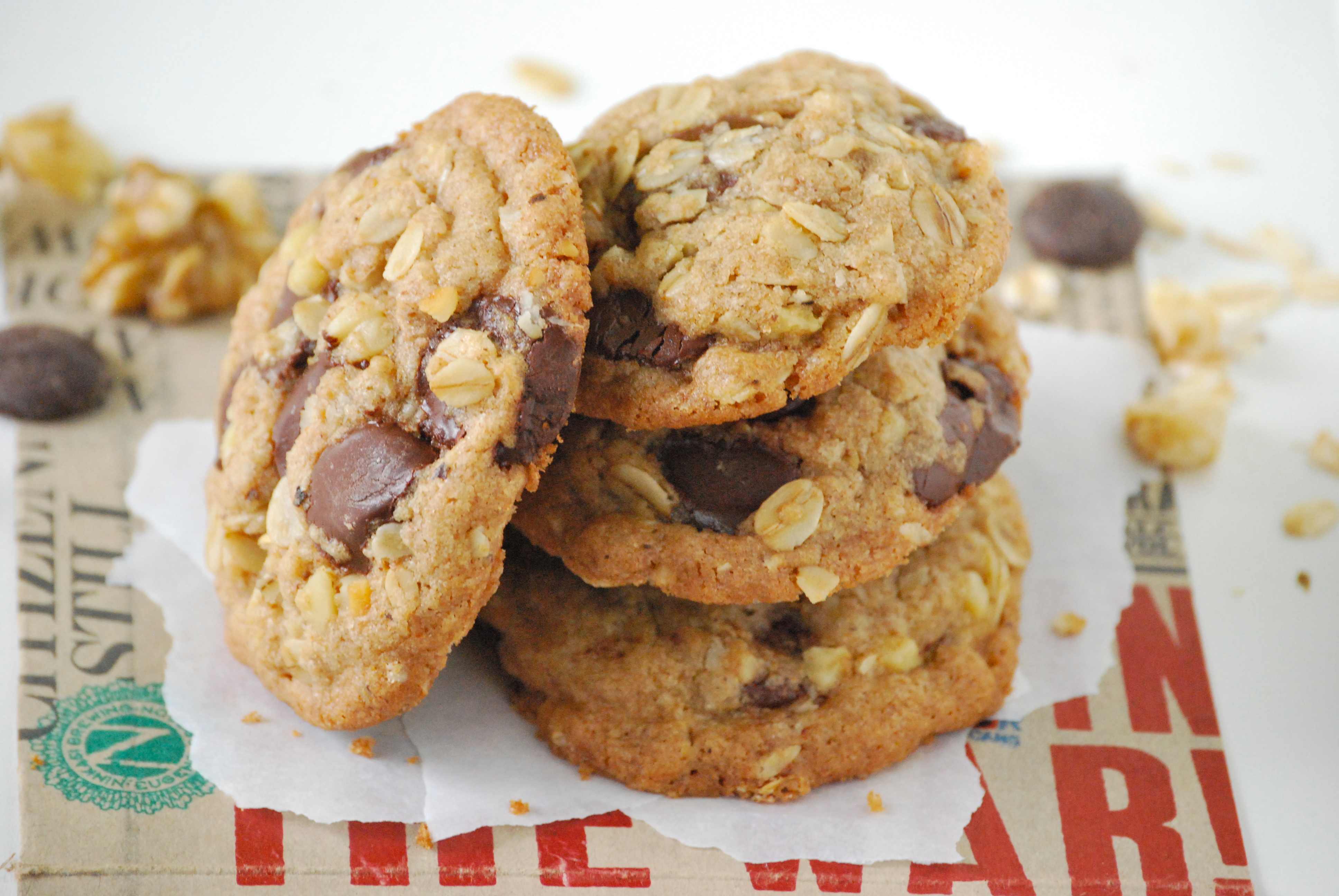 Chocolate, Walnut, and Oatmeal Cookies with Browned Butter and ...