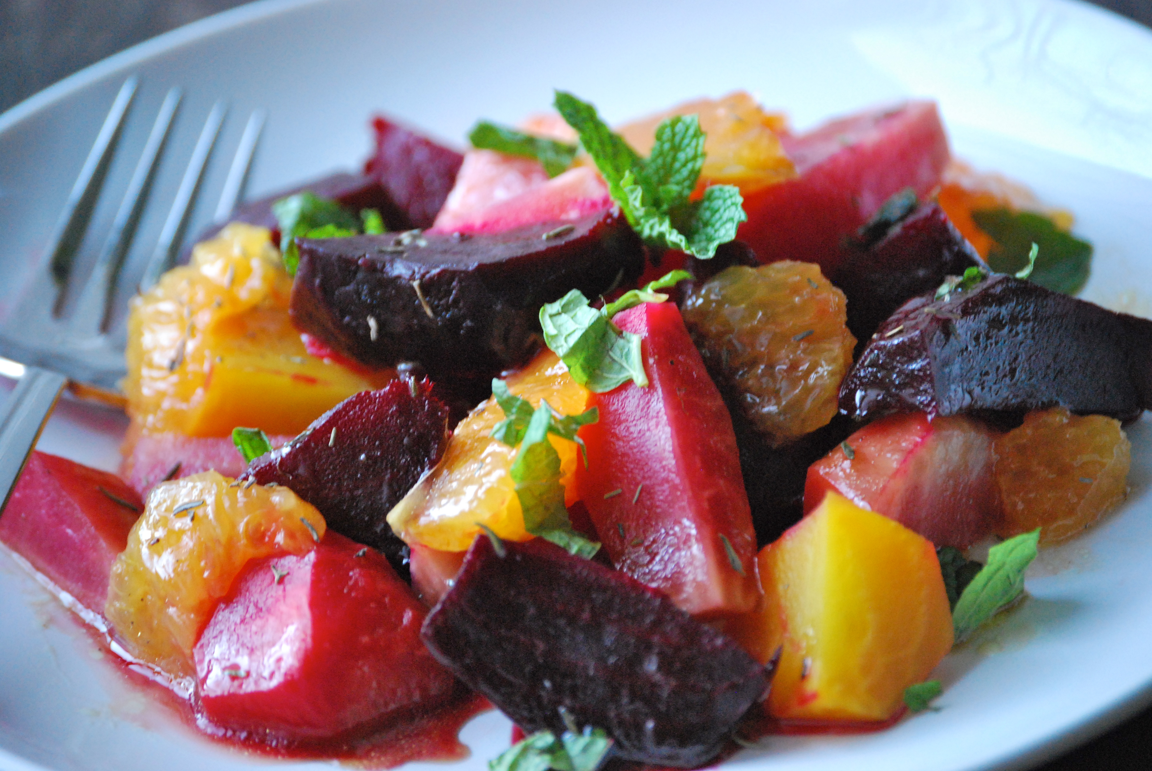 Roasted Beets with Orange and Mint | Relishing It