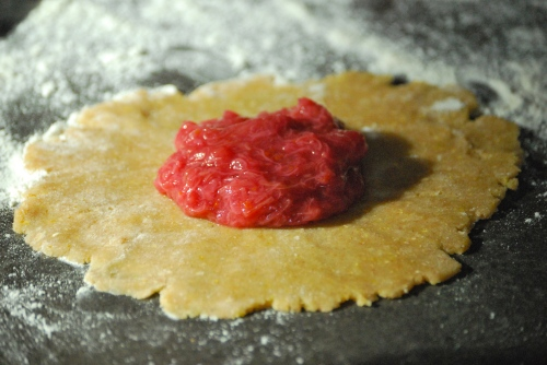 Rustic Rhubarb Tartlets via Relishing It