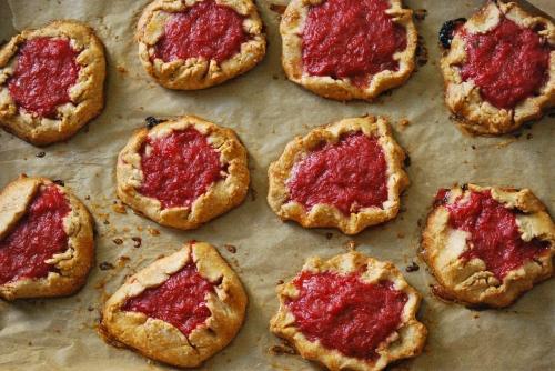 Rustic Rhubarb Tartlets via Relishing It