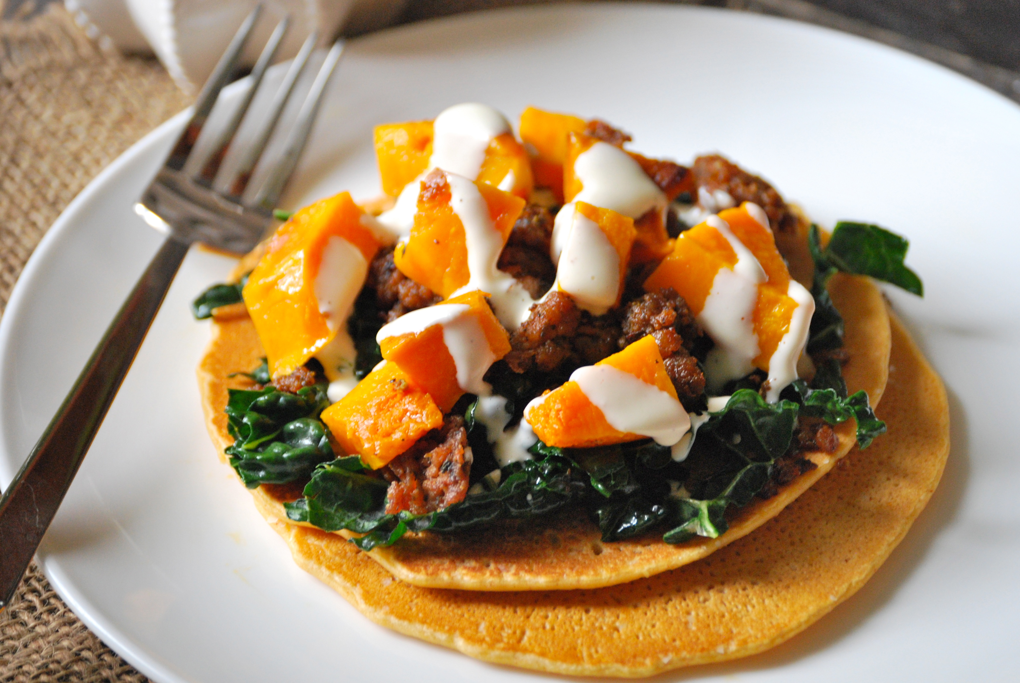 Socca with Roasted Squash, Kale, and Italian Sausage ...