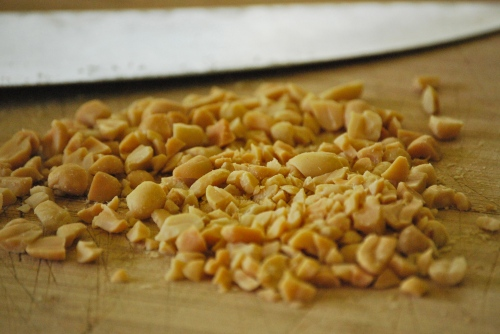 Chopped Peanuts for Pad Thai via Relishing It