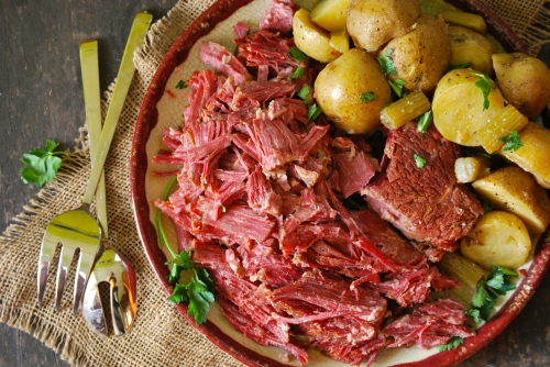 Homemade Corned Beef via Relishing It