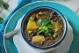 Black Bean Soup with Pineapple via Relishing It