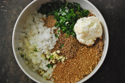 Lentil Meatball Ingredients via Relishing It