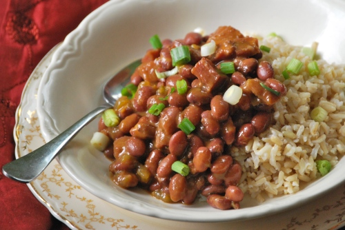 Cajun Red Beans and Brown Rice via Relishing It