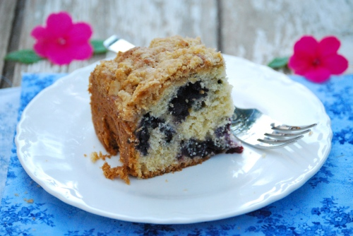 Blueberry Coffee Cake via Relishing It