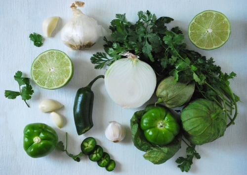 Fresh Tomatillo Salsa via Relishing It