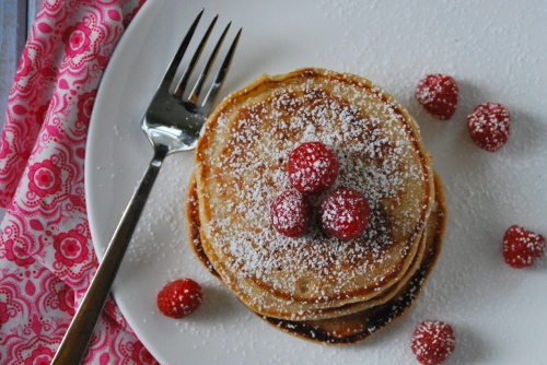 Whole Grain Lemon Ricotta Pancakes via Relishing it