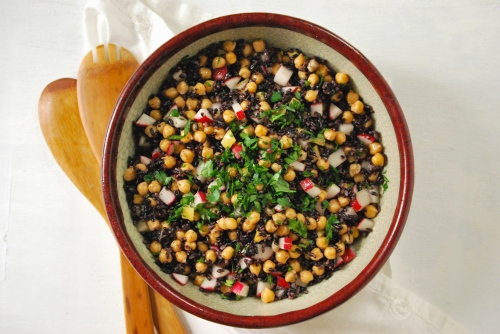 Chickpea and Black Rice Salad via Relishing It