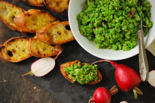 Smashed Summer Pea Spread via Relishing It