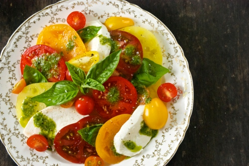 Caprese Salad with a Basil Vinaigrette | Relishing It