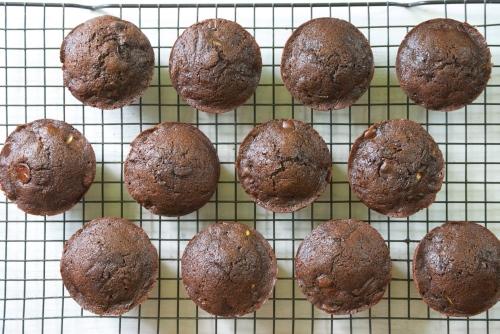 Healthy Chocolate Zucchini Muffins | Relishing It