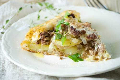 Rustic Potato, Sauerkraut, and Beef Galette | Relishing It
