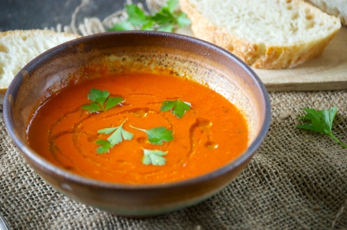 Roasted Red Pepper Soup | Relishing It