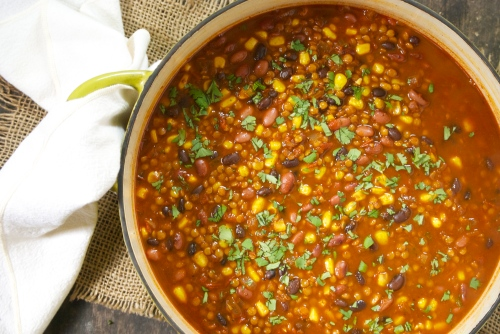 Vegetarian Lentil Taco Soup | Relishing It
