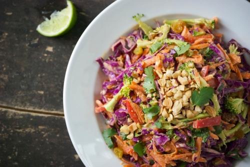 Healthy Asian Peanut Slaw | Relishing it