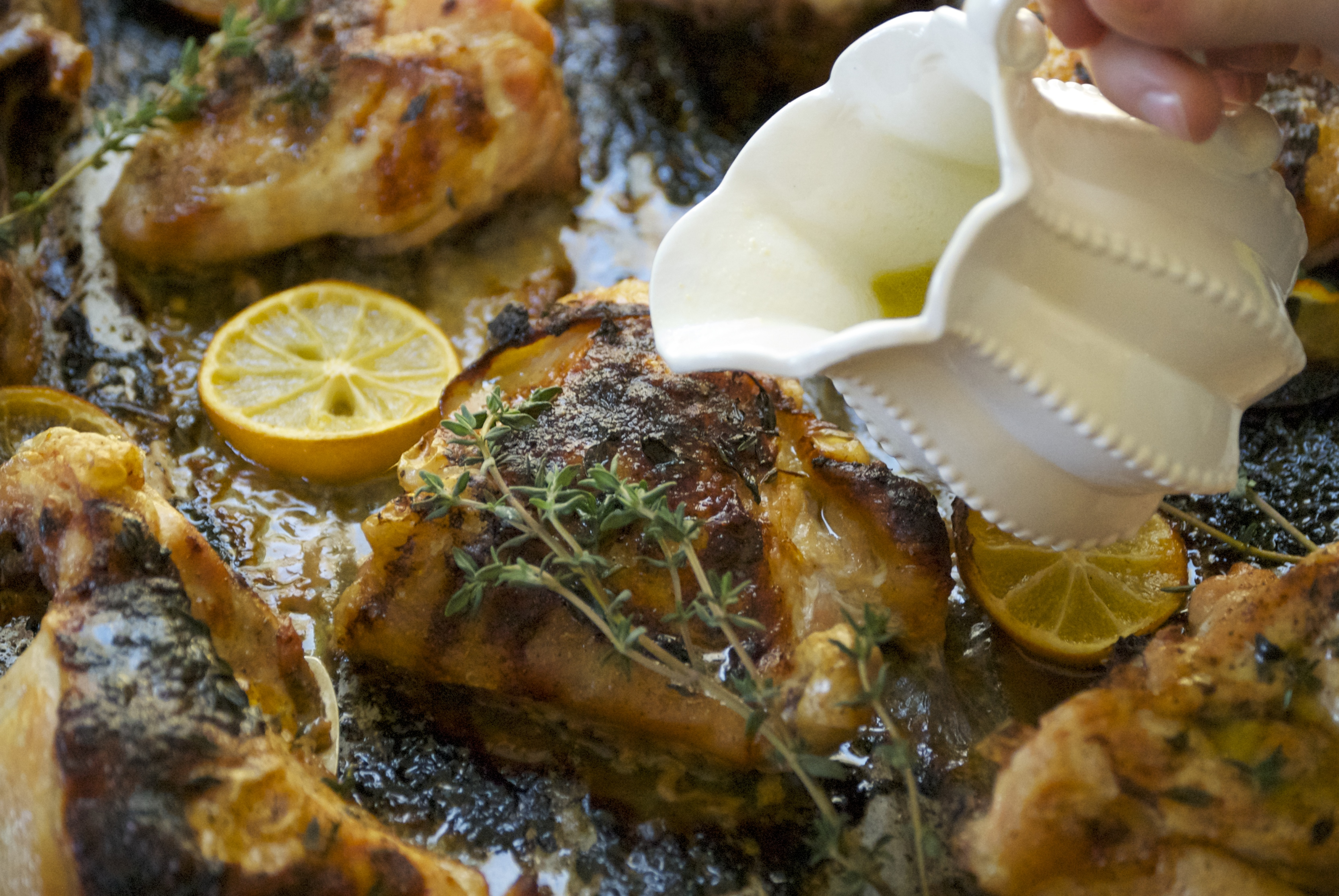 Star Anise Chicken Thighs With Meyer Lemon Recipe — Dishmaps