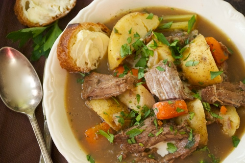 Soup of Roast Beef, Root Vegetables, and Warm Spices | Relishing It