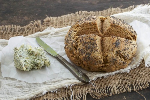 Rye Soda Bread with Dill Butter | Relishing It