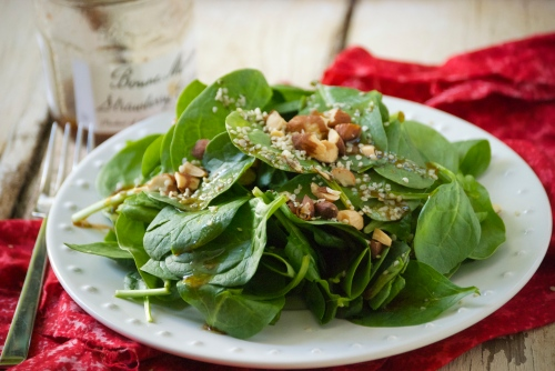 Strawberry Balsamic Vinaigrette with Spinach | Relishing It