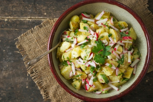 Spring Potato Salad with Ramps and Radishes | Relishing It
