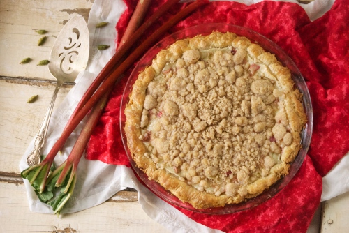 Rhubarb Cardamom Custard Pie | Relishing It