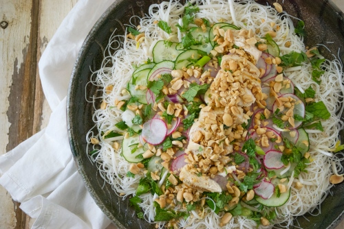 Healthy Brow Rice Noodle Salad | Relishing It