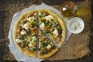 Skillet Pizza on the Stovetop with Ramps, Mushrooms, and Smoked Mozzarella | Relishing It