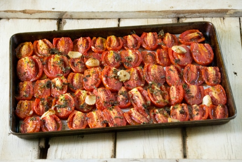 Roasted Tomatoes with Garlic and Herbs | Relishing It