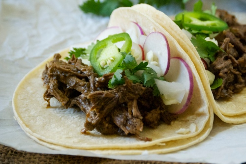 Perfectly Tangy Barbacoa with Avocado Tomatillo Salsa | Relishing It
