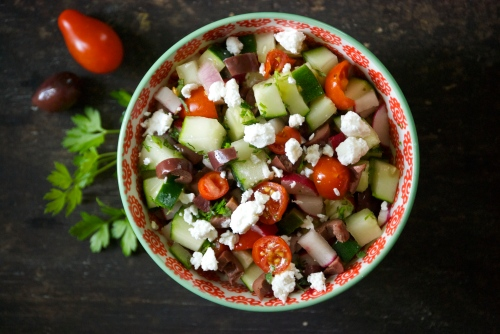 Socca with Greek Vegetable Salsa | Relishing It