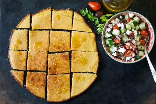 Socca with Greek Vegetable Salsa | Relishing It