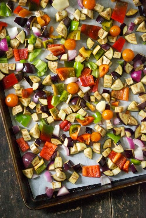 Roasted Vegetable Panzanella with Eggplant | Relishing It