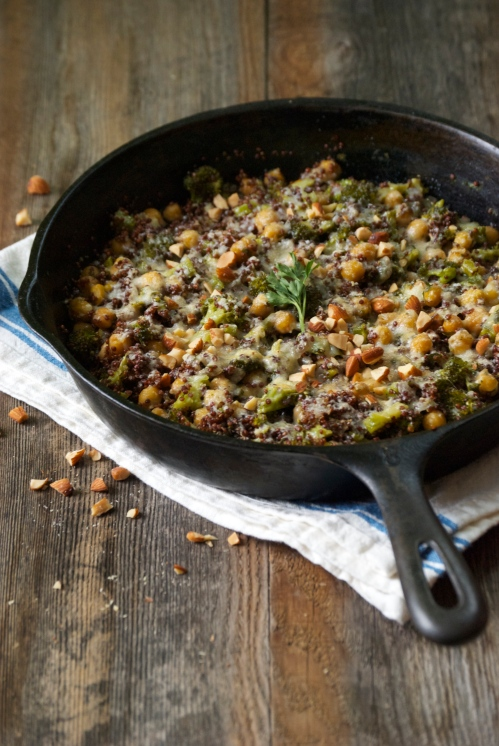 Quinoa Bake with Broccoli and Chickpeas | Relishing It