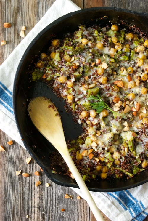 Quinoa Bake with Broccoli and Chickpeas| Relishing It
