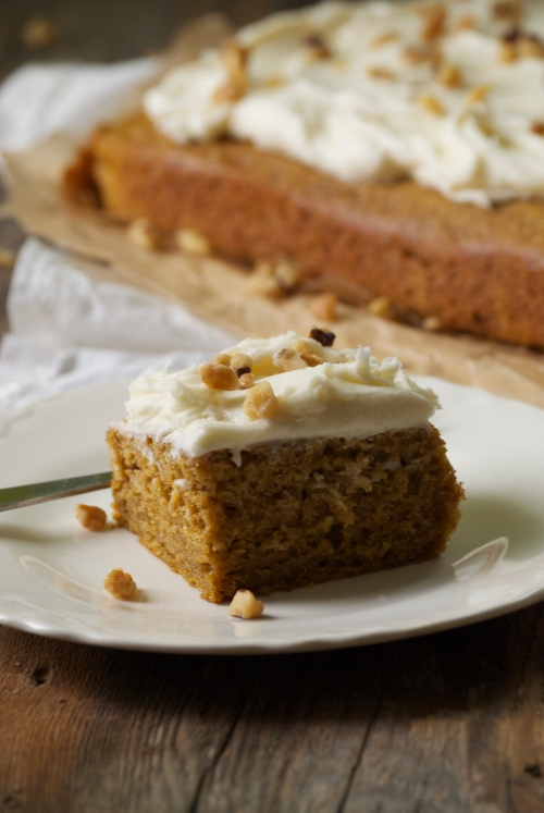Perfect Pumpkin Bars with Maple Cream Cheese Frosting | Relishing It