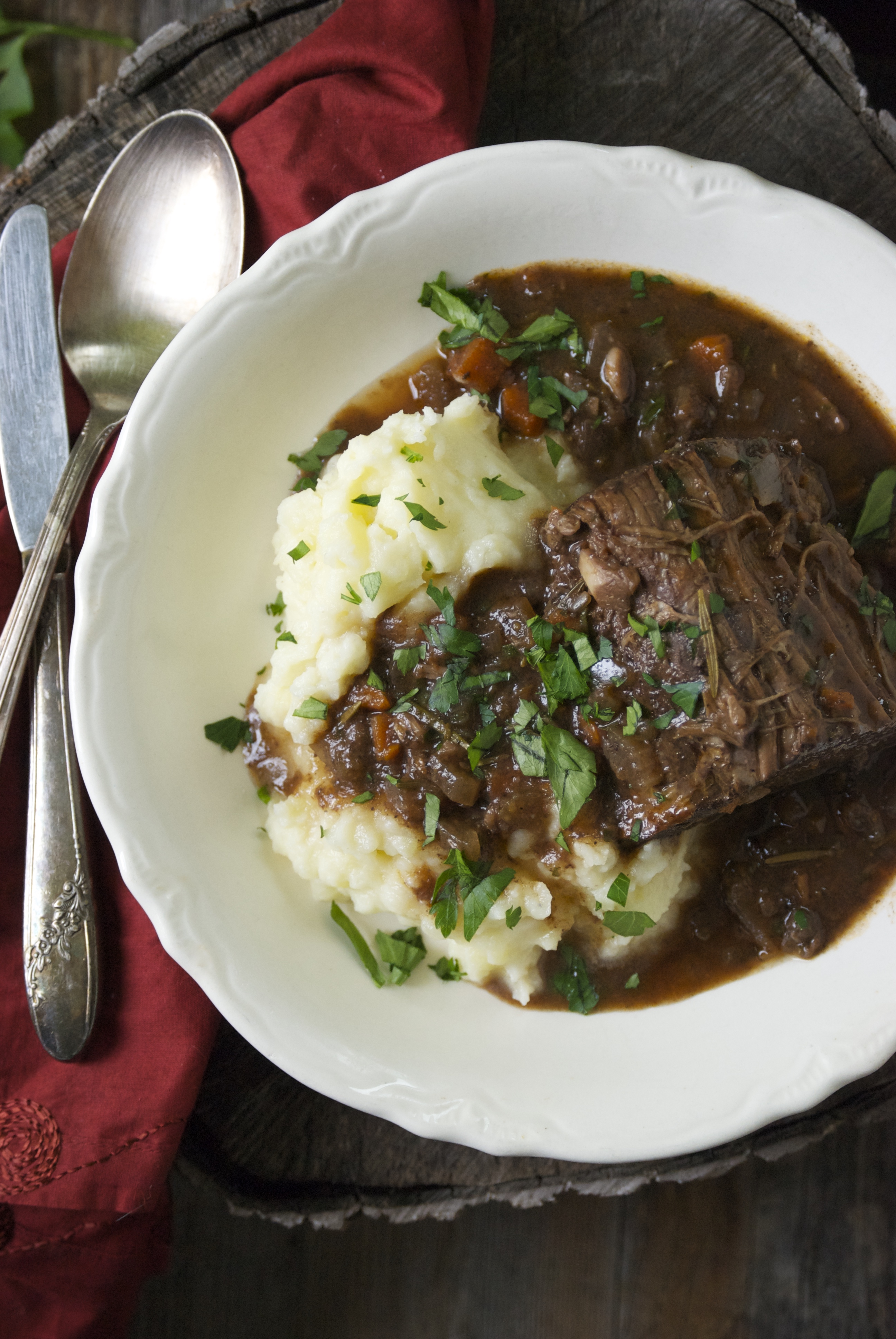 Braised Beef Roast With Red Wine And Rosemary Relishing It