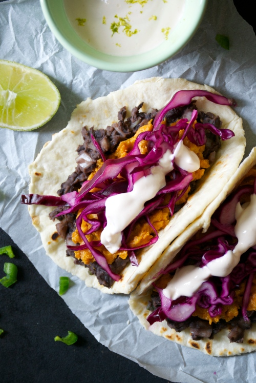 Sweet Potato and Black Bean Tacos | Relishing It