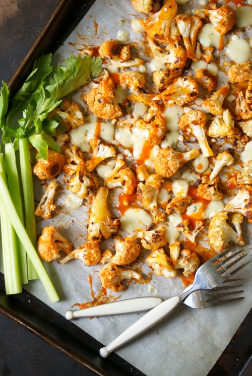 Buffalo Cauliflower with Blue Cheese | Relishing It